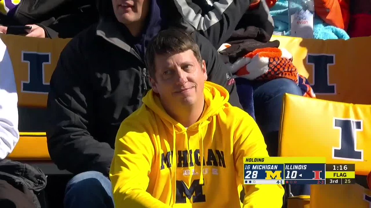 Photos: Sad Michigan Fan Is Going Viral At Illinois