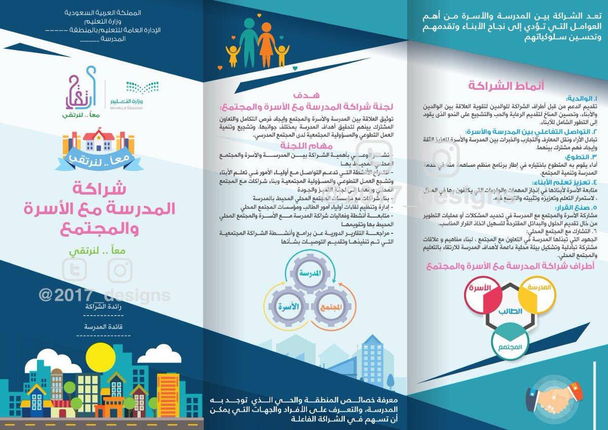 تصاميم 2017 On Twitter مطوية الشراكة المجتمعية تعريف الشراكة