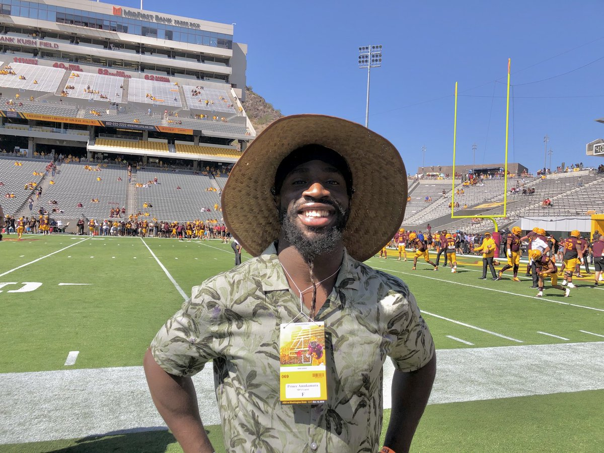 Apollo/Nebraska alum Prince Amukamara is out here watching the Sun Devils since the Chicago Bears are on a bye.
