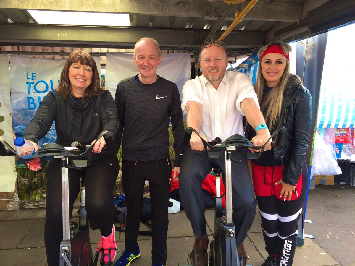 Lovely start to the day - cycling to raise money for Green Park School in Wolverhampton with my friend and colleague @patmcfaddenmp Thanks for the invite @beverley_momen