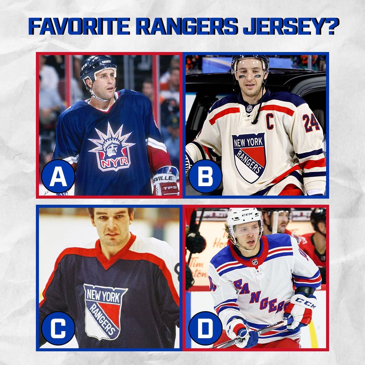 Which @NYRangers jersey is your favorite? <br>http://pic.twitter.com/ZRm3RfF8Eg