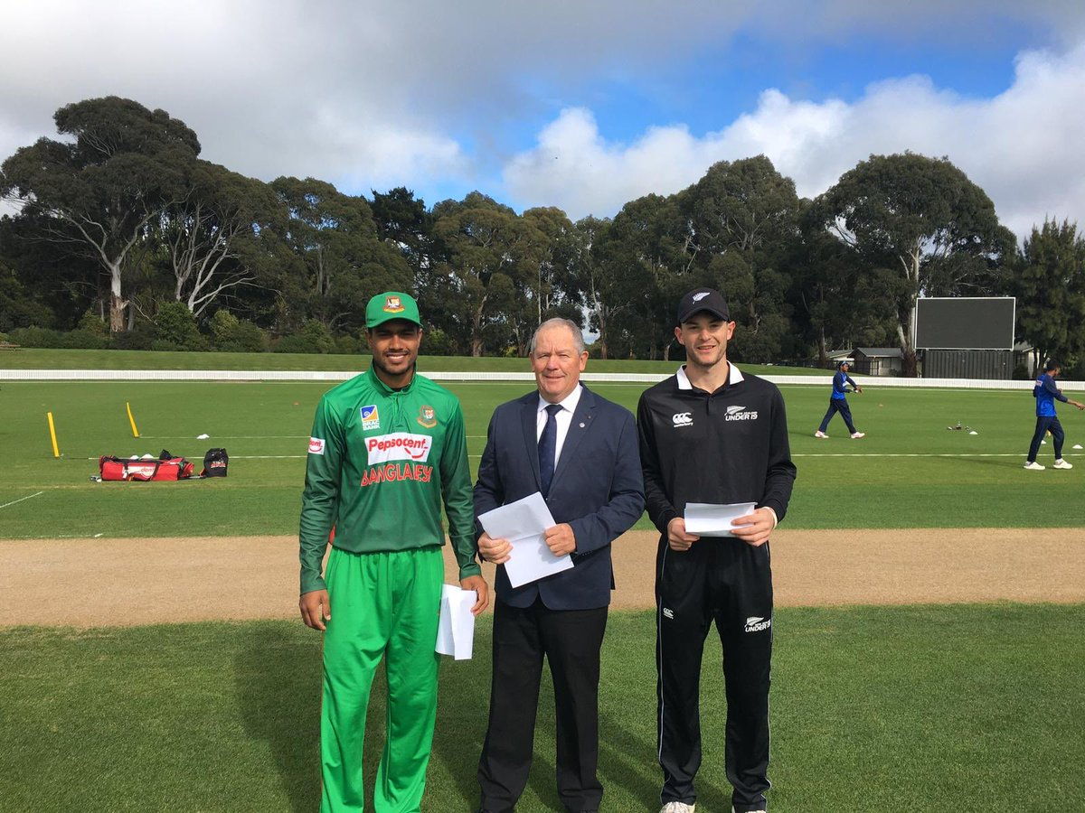 5th and final U19 one day international today at Lincoln. Can our NZ boys finish the series with two consecutive wins against Bangladesh? Live scoring & video: scoring.nzc.nz/livescoring/ma… #cricketnation