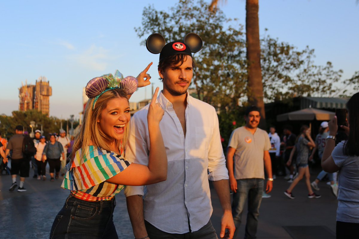 He loves me for Minnie reasons, but I don't think making him wear those Mickey ears is one of them. However, my ears were mermaid for me. 🧜‍♀️ @Disneyland @Gleb_Savchenko @dancingabc