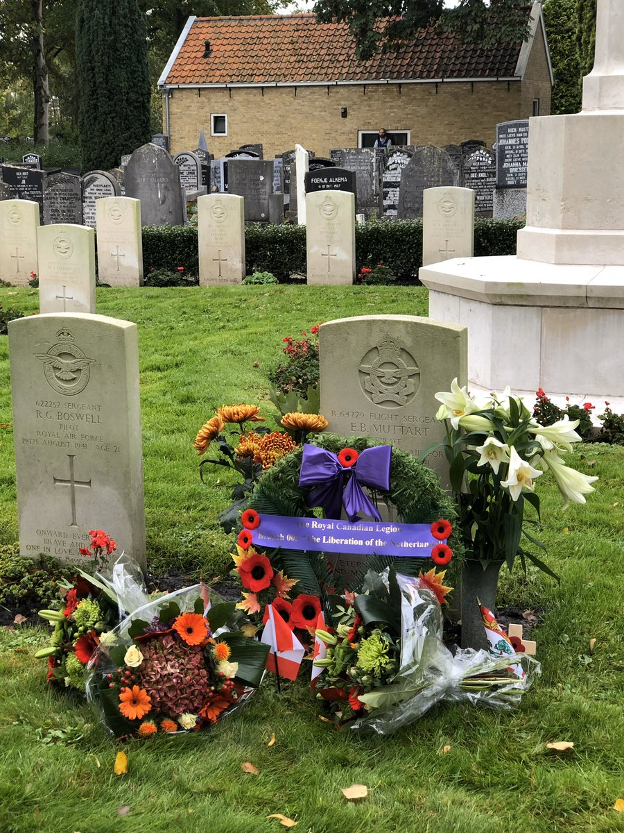 78 years ago 12.10.41 my father, navigator in an early Halifax bomber heading to Bremen was shot down by the Germans' flying ace nightfighter. His Canadian pilot died; the rest of the crew were captured. Tonight, here in Wons, the families and the villagers #wewillrememberthem <br>http://pic.twitter.com/QUFe8Gatlg