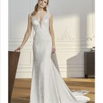 Image for the Tweet beginning: The 'Trocadero' gown by @Pronovias