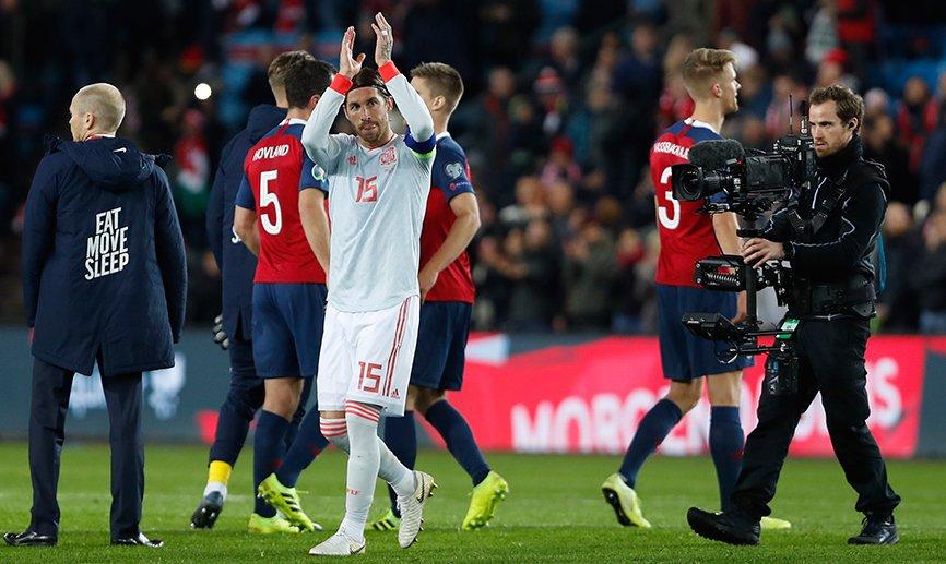 Sergio Ramos, tras el duelo ante Noruega.