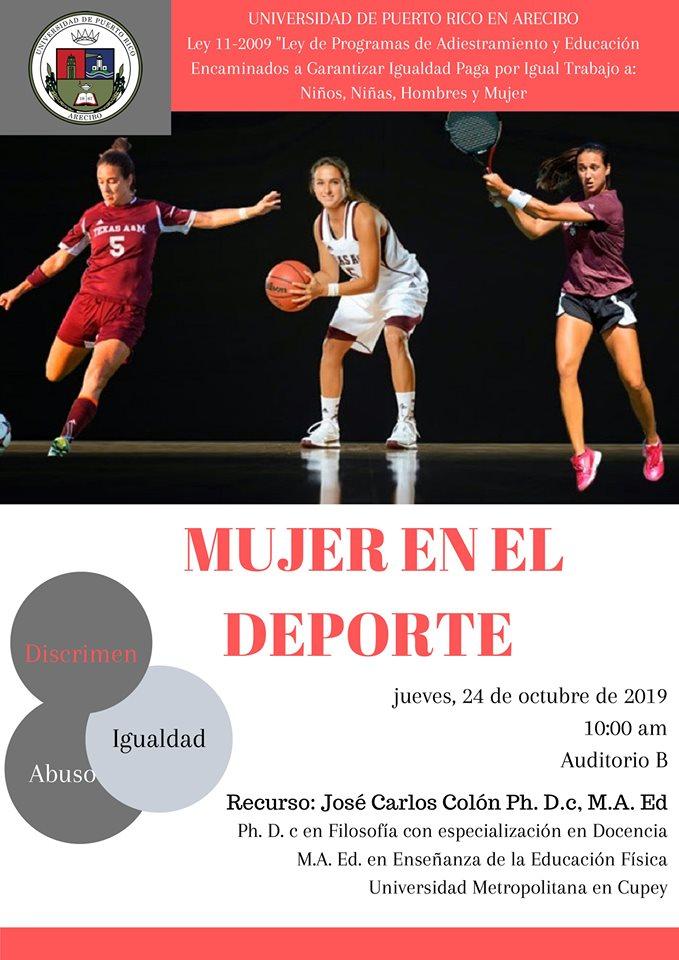 @UPRA_Oficial te invita a la conferencia: Mujer en el deporte