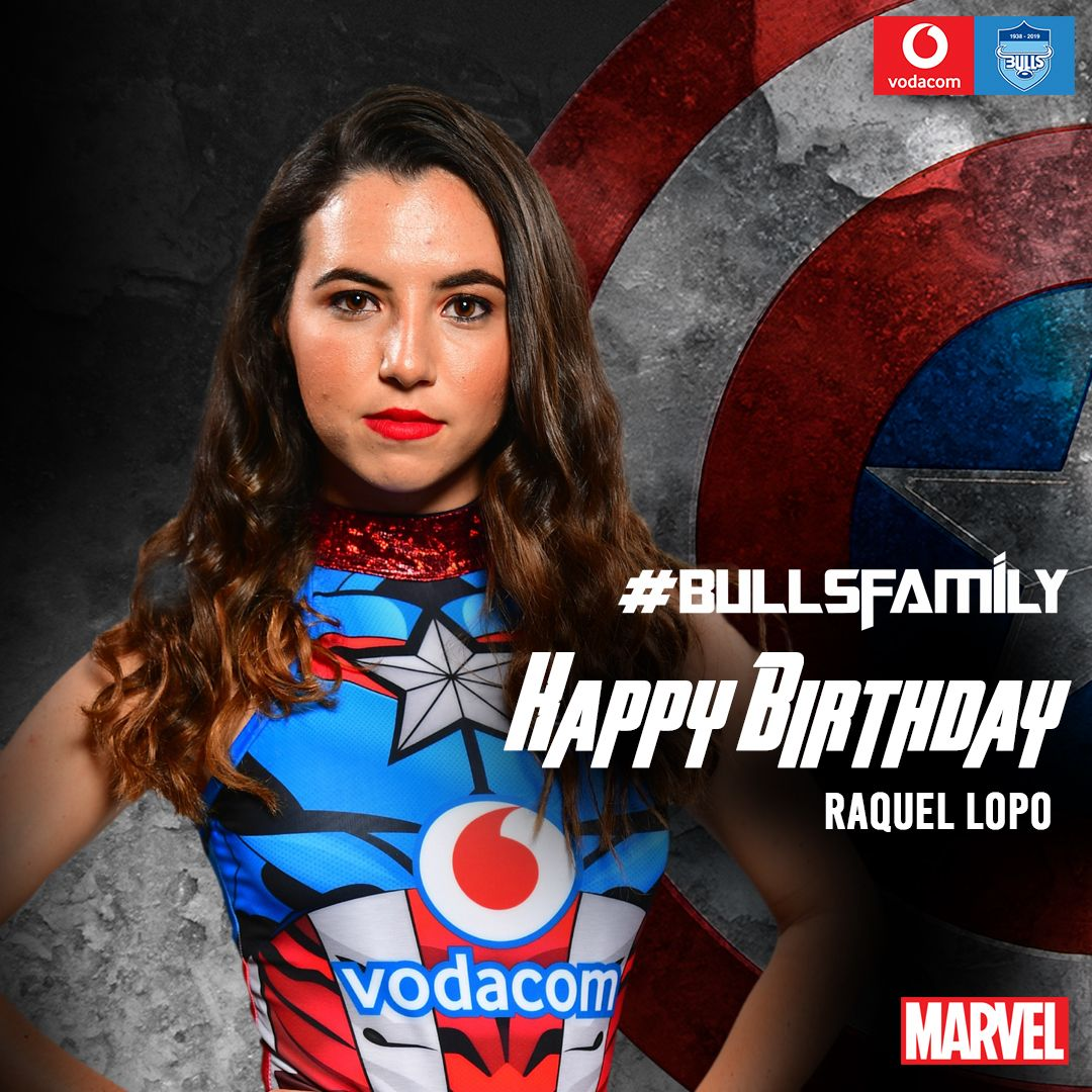The Vodacom Bulls would like to wish Raquel Lopo a very happy birthday. We hope that this year is filled with great memories. Enjoy your special day. #BullsFamily