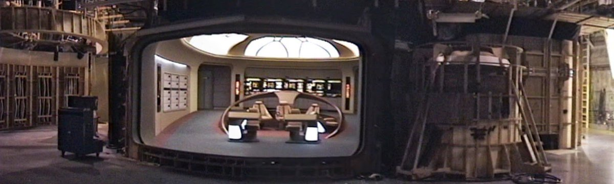 A look at the Enterprise-D bridge... from the other side of the viewscreen. #StarTrek