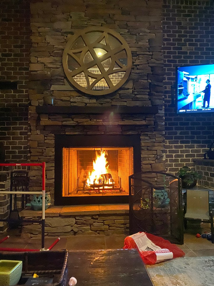 Ahhhhh. Fall brings a good fire to watch a little football in front of!