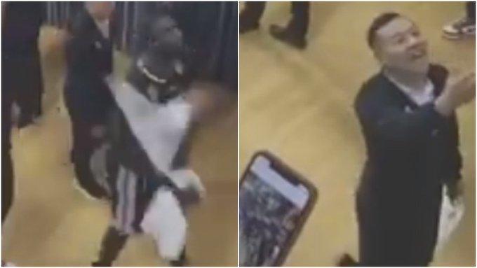 【影片】搞笑一幕!舞王將毛巾扔給球迷卻被迅速要回,翻譯:毛巾是酒店的!