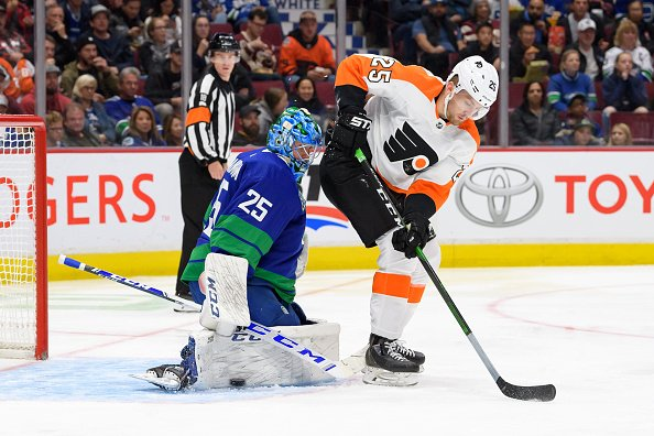 Oskar Lindblom's goal with 5:02 left in the third helped force overtime and extend the #Flyers points streak to three games, but they suffered their first loss of the season in a shootout to the #Canucks. RECAP:  #FlyersTalk