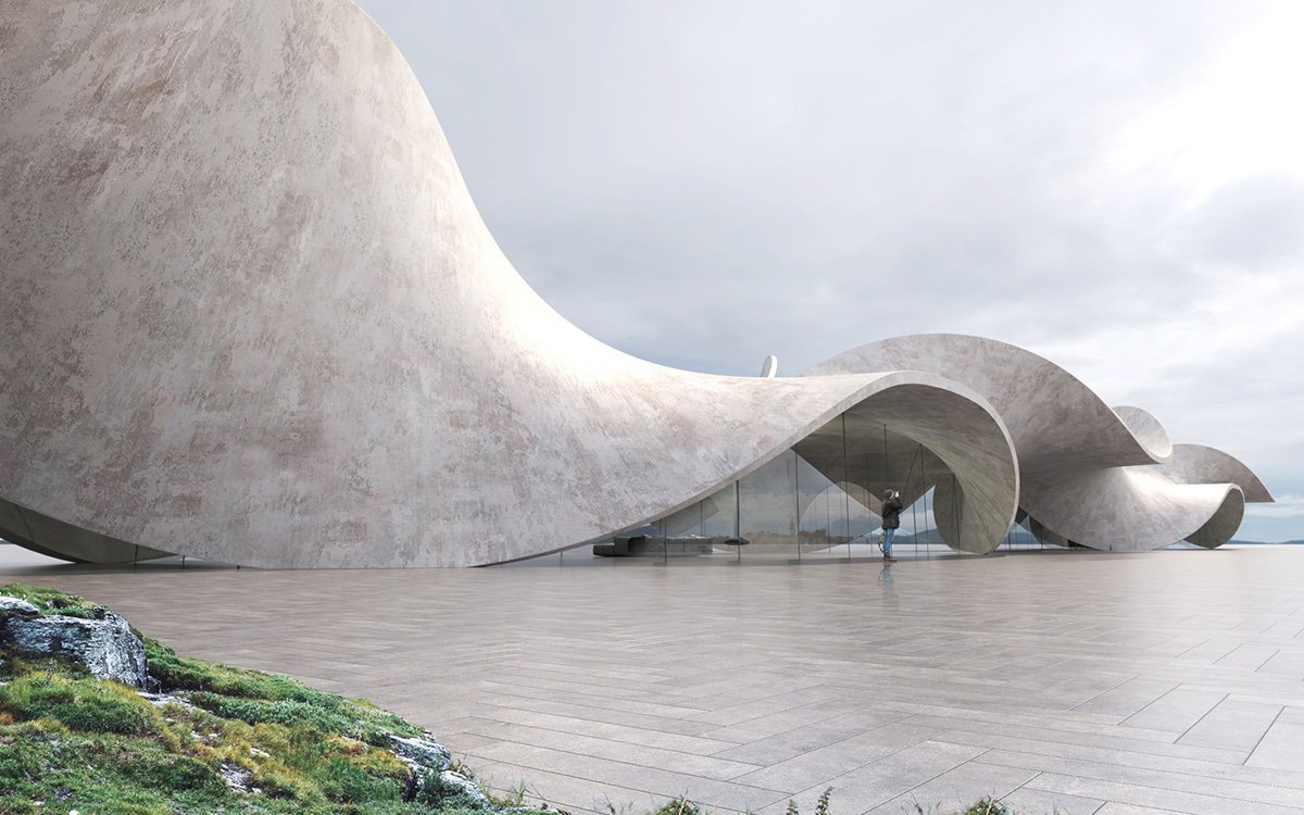 Antony Gibbon proposes house made of a twisted concrete structure becoming part of the landscape:  https:// worldarchitecture.org/architecture-n ews/eezpc/antony-gibbon-proposes-house-made-of-a-twisted-concrete-structure-becoming-part-of-the-landscape.html  …  #architecture<br>http://pic.twitter.com/qPXBZVJI0u
