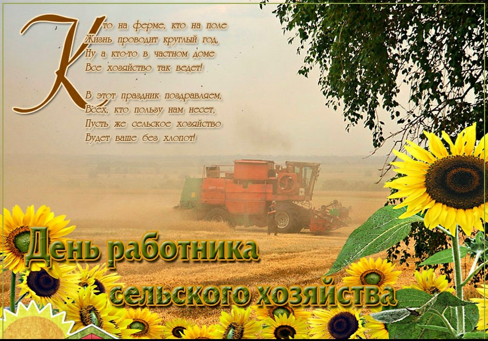 стихи к дню колхозника самом