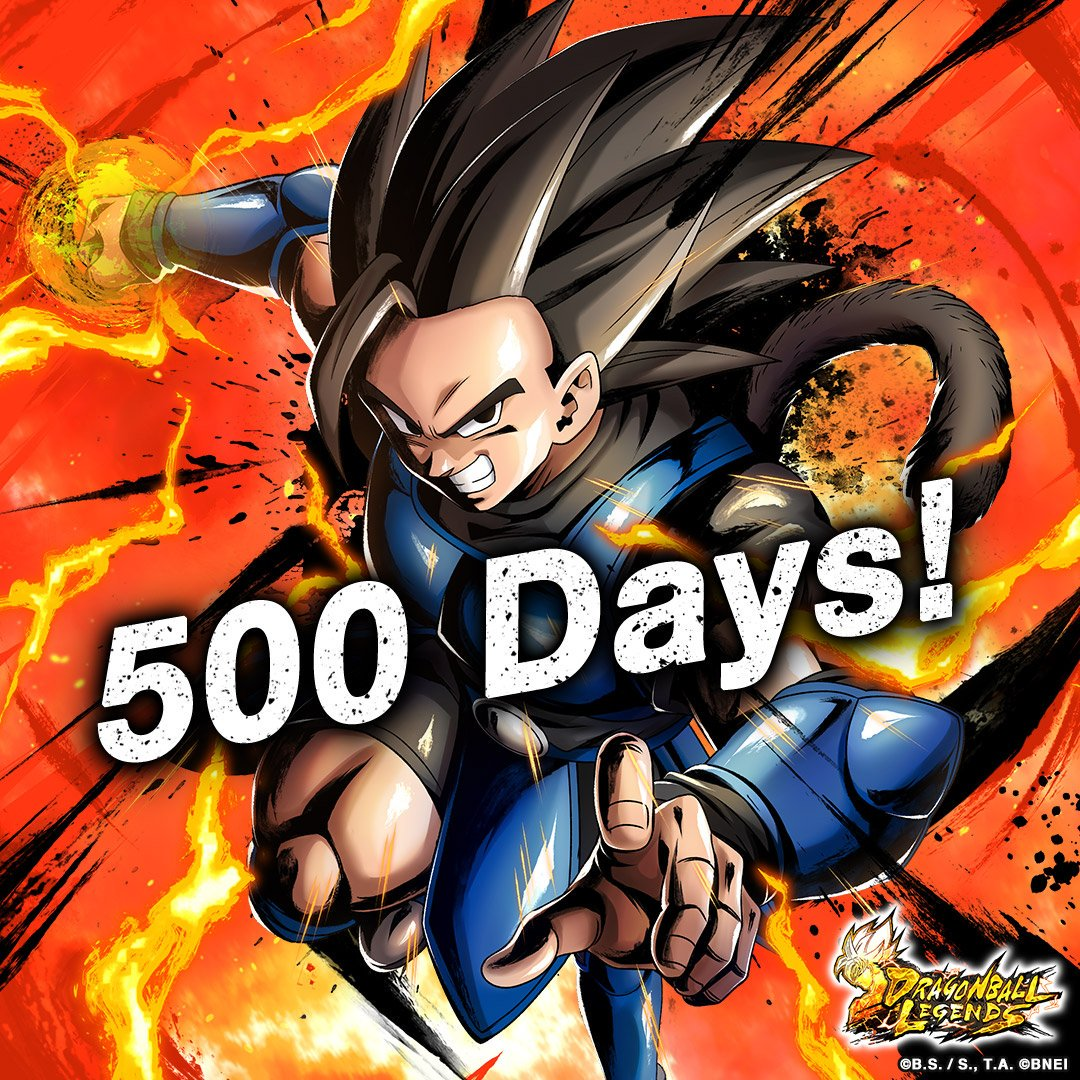 [Celebrating 500 Days of Legends! RT Campaign!] A landmark 500 days have passed since the official release of #DBLegends ! To thank all of you for making this possible, players will receive 100 Chrono Crystals for every 500 RTs of this tweet with a maximum of 500 CCs! #Dragonball