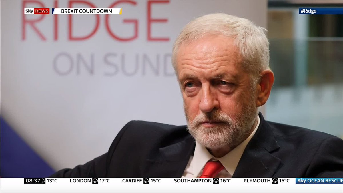 Of course, Im the leader of the opposition... We will form an administration if this government collapses with the purpose of a deal, and take this country forward to decide its own future through an election.. 💯 @jeremycorbyn #JC4PM
