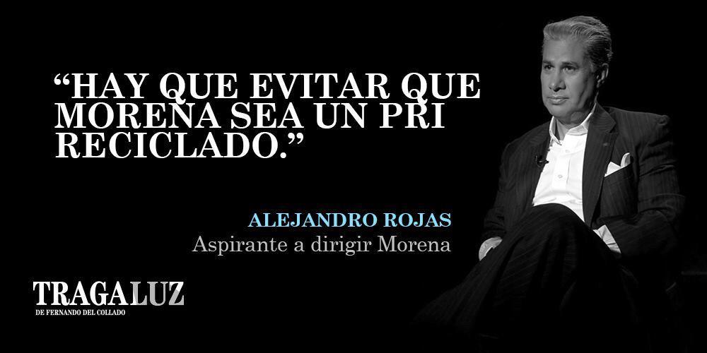 📸 AVANCE | - ¿Morena es la cuarta transformación del PRI? Fernando del Collado (@fdelcollado) conversa con Alejandro Rojas (@rojasdiazduran), aspirante a dirigir #Morena en #Tragaluz (@TragaluzenTV) http://mile.io/2pf3fdeLunes 20:45 horas por @mileniotv