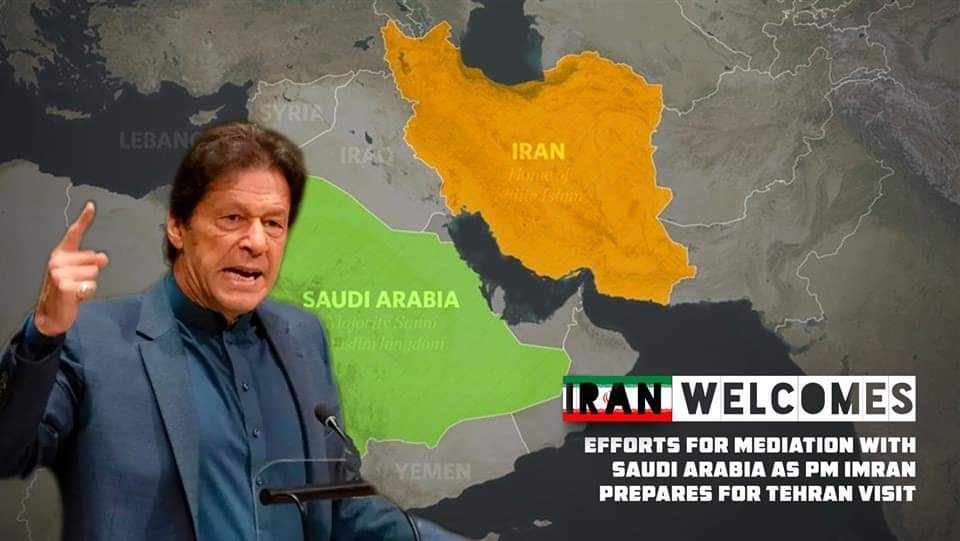 #PakLeadsTheWorld PM Imran Khan, will visit Iran Sunday to meet President Hassan Rouhani before heading to Saudi Arabia as part of his mediation efforts to help defuse tensions between the two countries. <br>http://pic.twitter.com/DnBFKQjP5M