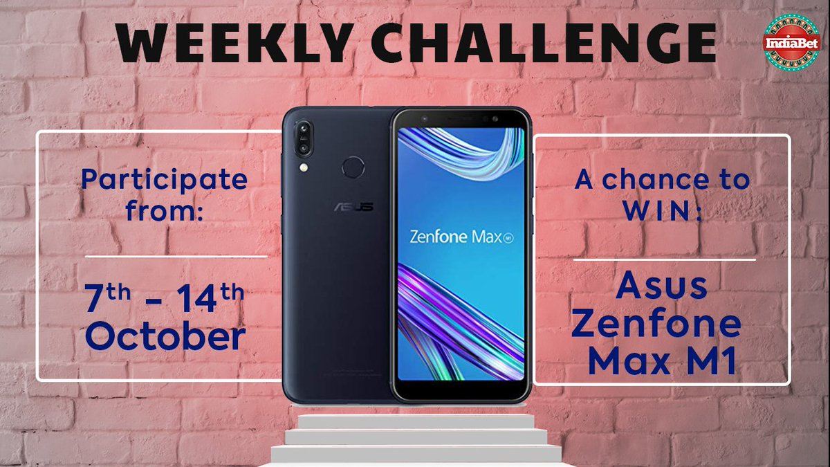 The last day may change your fortune!!  Participate in the Weekly Challenge:  http:// indiabet.com/challenge/c1184      Get a chance to win #AsusZenfone Max M1 and other #Indiabet merchandise  #contestalertindia #ChallengeCup #Asus #AsusZenfoneMaxM1 #PlayAndWin  #ContestIndia <br>http://pic.twitter.com/IeXXZdA69K