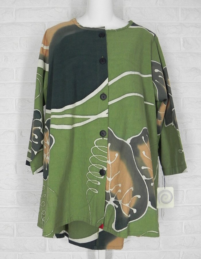 KINA Tunic Shirt A Line Art To Wear Abstract Print Green Multi NWT One Size http://ebay.to/2mqiKy8  @eBay #layering #lagenlook #clothing #fashion #shopsmall
