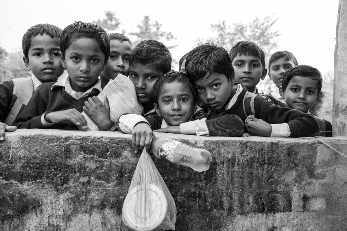 Students are eager to appear in the photographs because it is a novel experience for them. Photo from Khairba village, Mahottari, #Madhes #Nepal by @digitalsubway