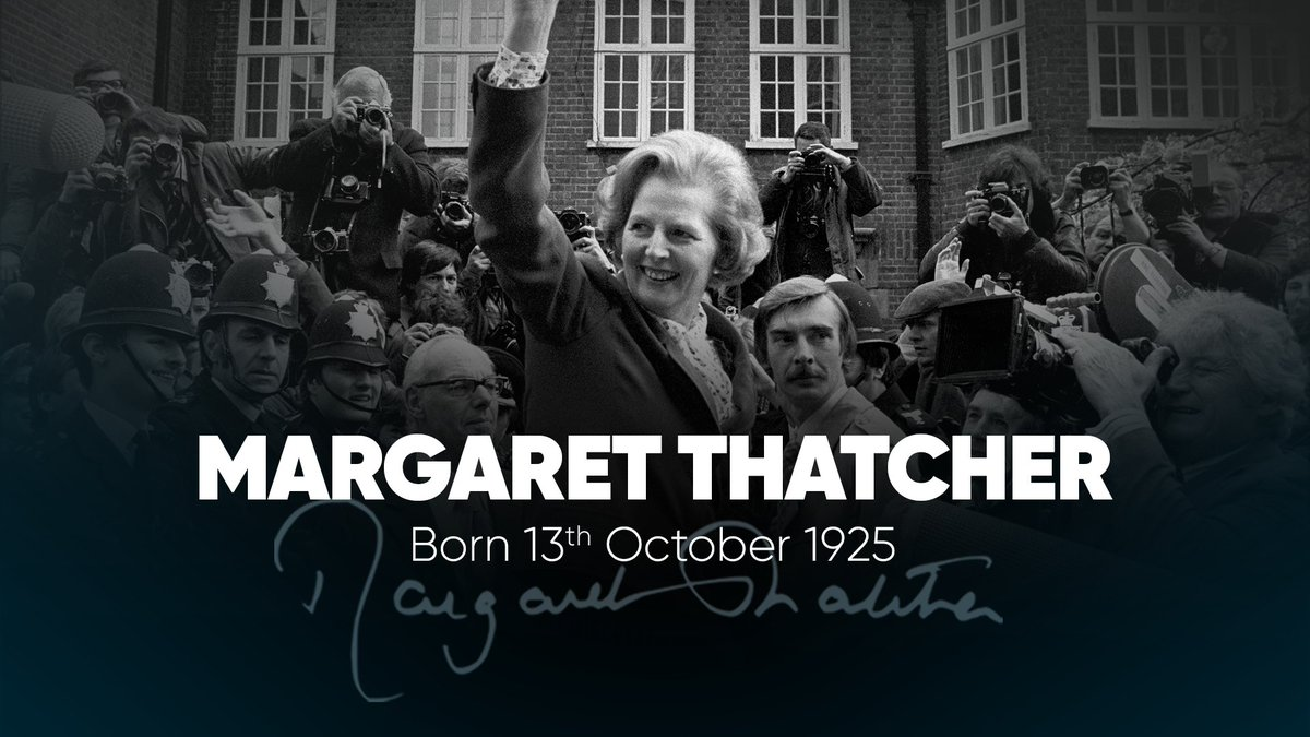 On this day in 1925, Margaret Thatcher was born in Grantham, Lincolnshire. She would grow up to become Leader of the Conservative Party and win three elections.