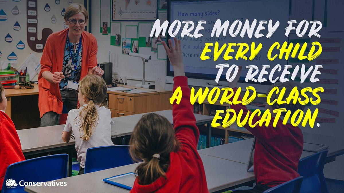 🧒 📚We are investing in our children's futures with the biggest funding boost for schools in a decade.
