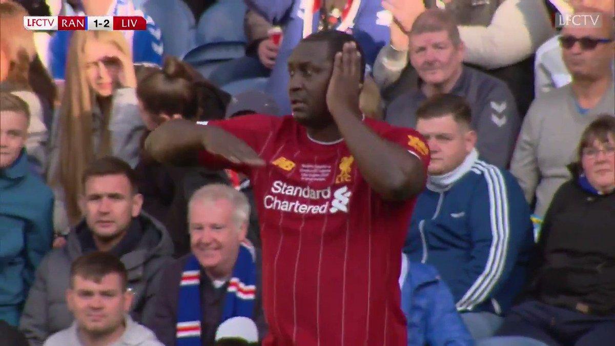 Luis Garcia, he drinks sangria 🇪🇸🎶 Berger brilliance 🚀 Gerrard to Heskey 😍 CELEBRATIONS! 🕺 It was a Reds classic vs @RangersFC 🤩🤩