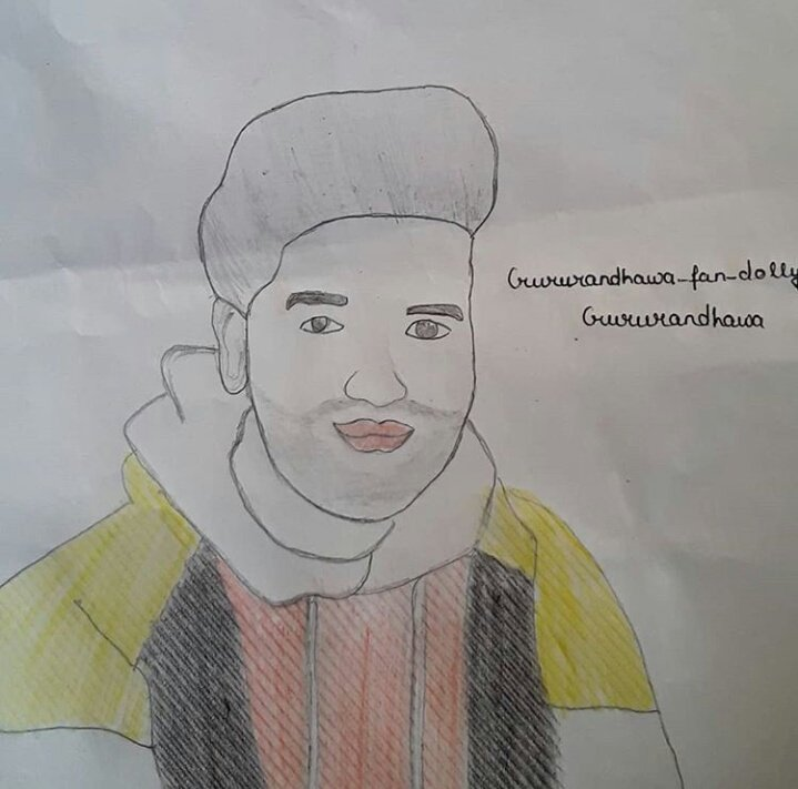 Sir this drawing is draw by me 🙏iam try best for you❤ @GuruOfficial