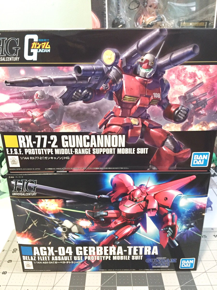 HGUC Guncannon and Gerbera Tetra  I'm very excited to build them  <br>http://pic.twitter.com/iQtgpetso0