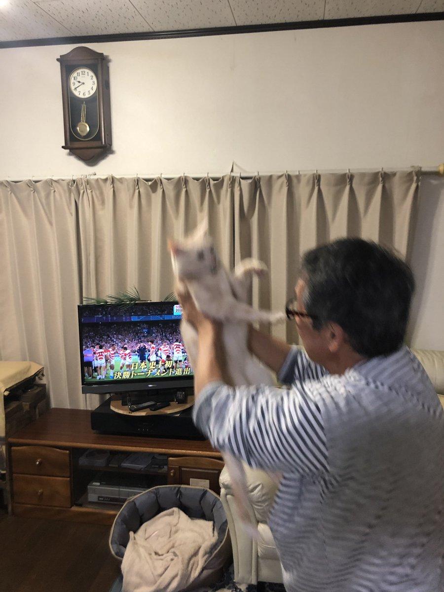 ラグビー日本代表が勝った瞬間の父