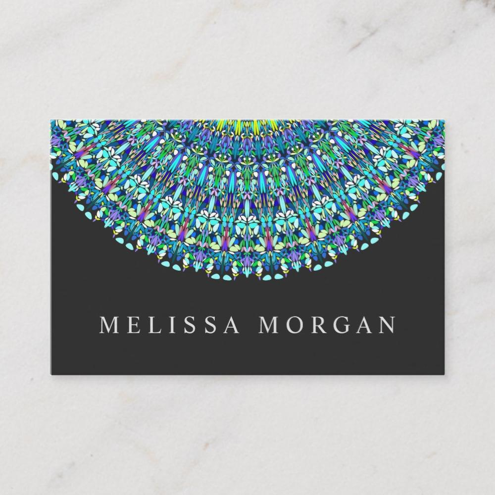 Floral Mandala Ornament Business Card #graphicdesign #behance #artist #makeup #graphics #yoga #design #holistic #instructor #card #business #beauty #floral #mandala https://www.behance.net/gallery/85852073/Floral-Mandala-Ornament-Business-Card …