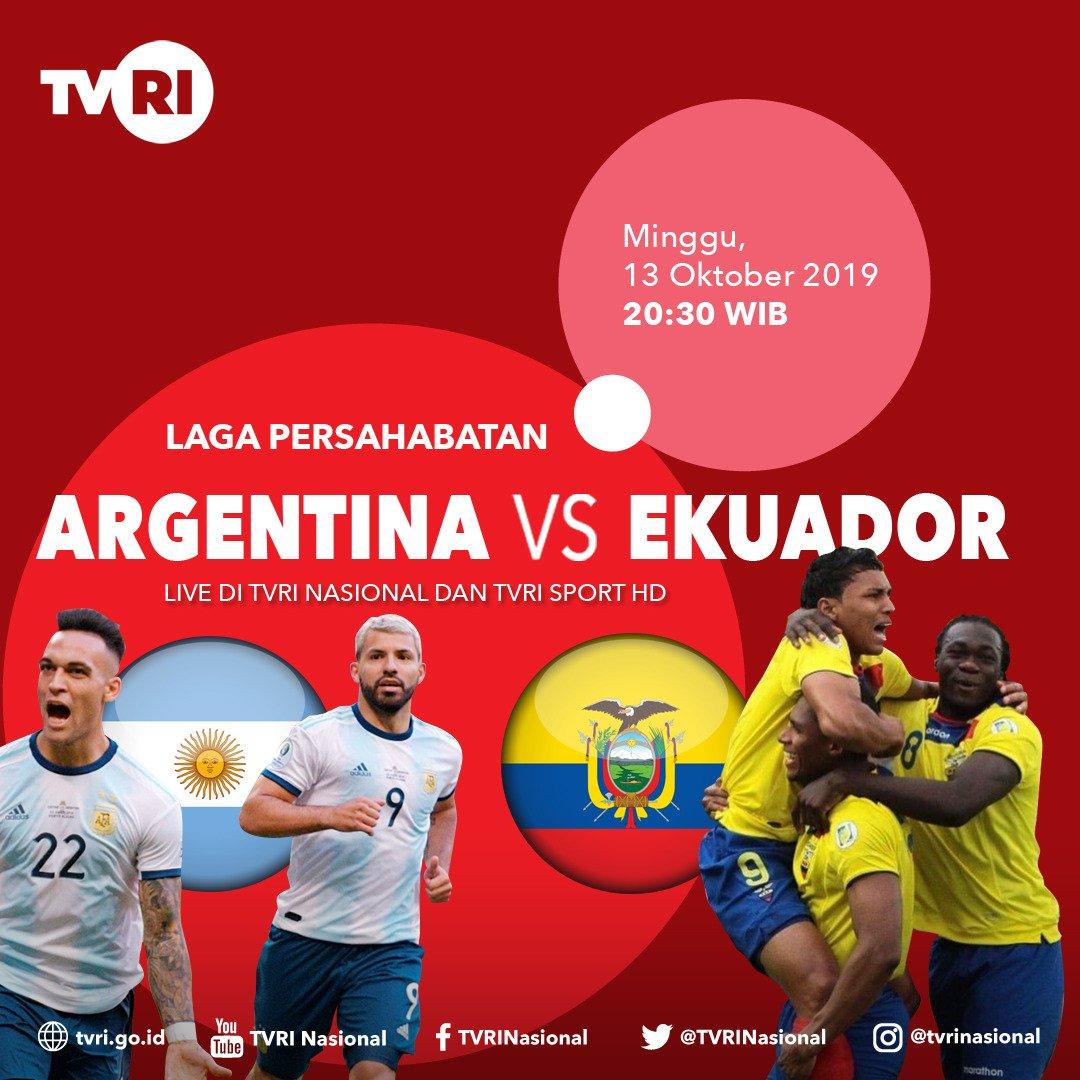 #TODAYMATCH #FriendlyMatch ARGENTINA vs EKUADOR K.O 21.00 WIB TVRI LIVE