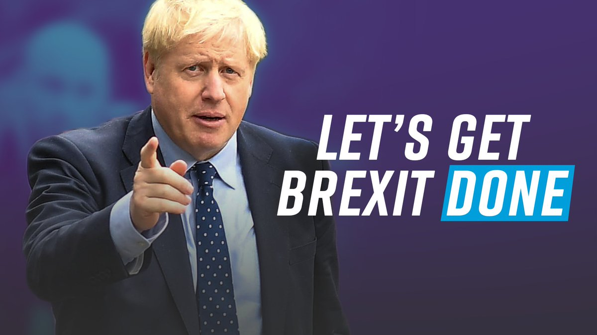 Let's #GetBrexitDone so that we can: 1️⃣ Respect the referendum 2️⃣ Invest in the NHS 3️⃣ Tackle crime 4️⃣ Reunite the country