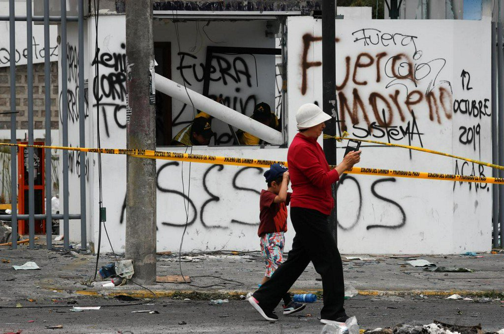 Ecuador's military partially lifts curfew in Quito ahead of talks
