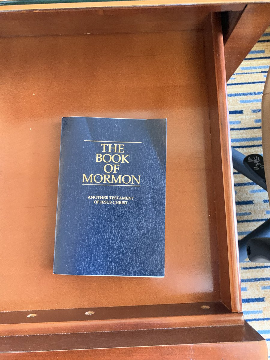 """My daughter pulled this out of the drawer this morning at the hotel and said, """"I guess it's time to Man Up."""" #proudfather"""