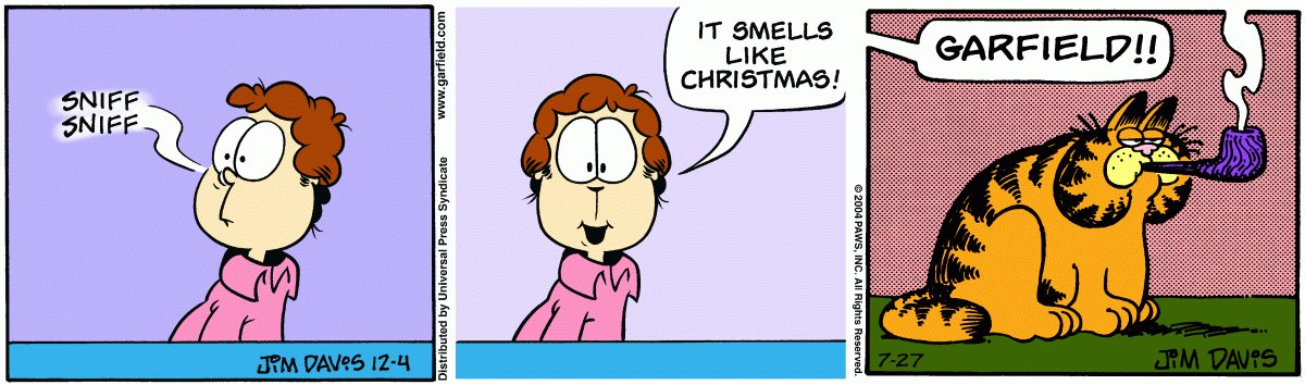 Smile E Face On Twitter Jon Is Mad Because Garfield Got Into The Christmas Tobacco Before He Could Smoke It