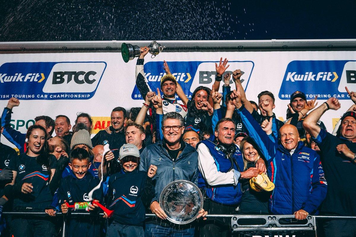 ✅ #BTCC Champion  ✅ Manufacturers Champion  Congrats @Official_WSR @BMWUKMotorsport @ColinTurkington @AndrewJordan77  @Tom_Oliphant https://t.co/7A5NwP4OJI