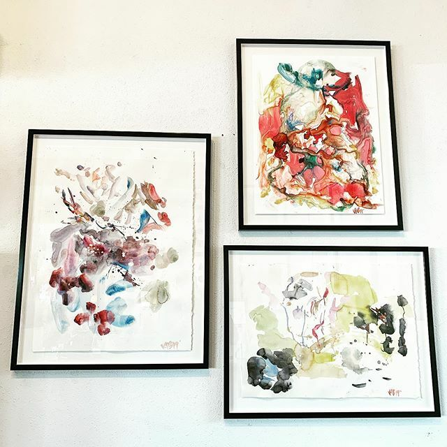 Wonderful grouping of new abstract watercolor paintings by @ivan_bridges_studio. Available in our showroom now...........#fineart #watercolor #artlover #interiorstyle #abstractart #ivanbridgesstudio #painting #collector #interiordesign #trebo… https://ift.tt/32bo3AR