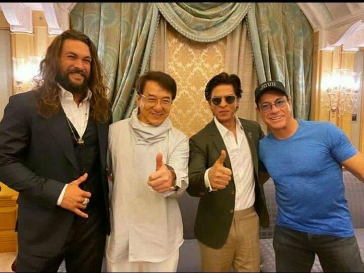 RT @SrkFCMPL: King Khan With Jackie Chan, Jean Claude Van Damme And Jason Momoa At #JoyForum19 ❤️ https://t.co/HQc2DP3Xuq