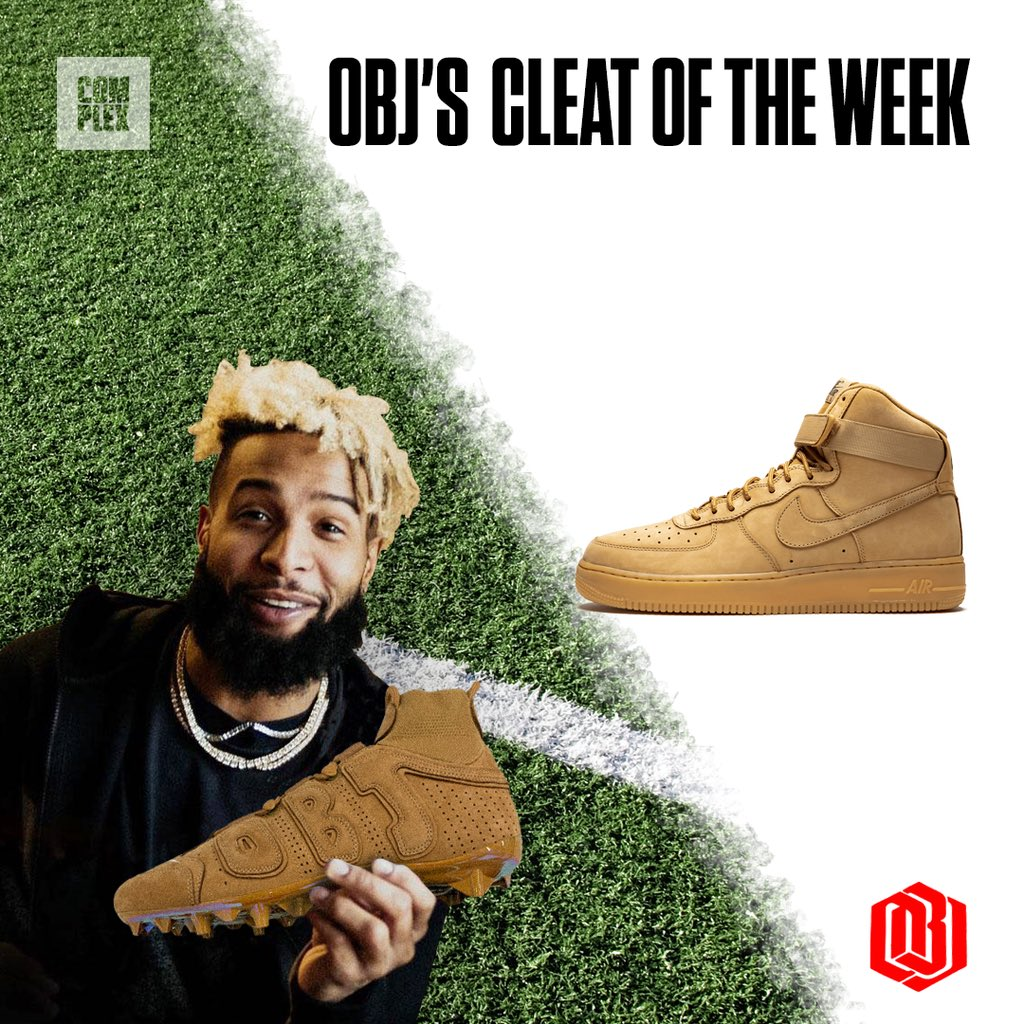 """Another week, another cleat. Today, @OBJ's Vapor Untouchable Pro 3 Uptempos don a classic """"Wheat"""" look. <br>http://pic.twitter.com/2H7rRJQ081"""