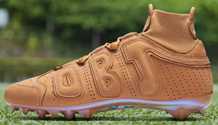 Appropriate for the season! Wheat cleats for @obj for Week 6 pregame. swoo.sh/33p932D 🏈