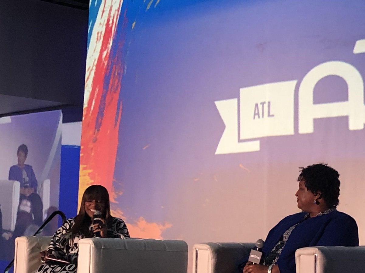 """On the 2020 Census - """"If they can erase us from the story of America they can erase us from the future of America."""" — @staceyabrams yesterday at the A3C Keynote conversation with @IAmMikkiTaylor."""