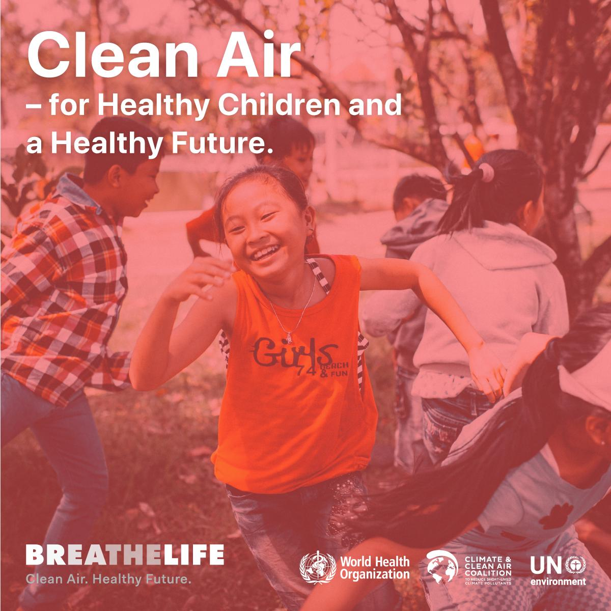 @WHOEMRO @WHOWPRO @pahowho @WHOSEARO @WHOAFRO @WHO_Europe Exposure to outdoor #AirPollution increases the risk of 👧👦 developing #asthma. Breathing pollutants in the air may also exacerbate childhood asthma. Clean air = Healthy future