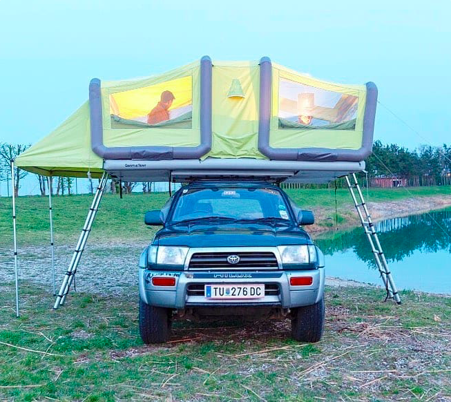 Campingroadtrip Com On Twitter Found This Shared By Vanlifeing Com The World S Largest Rooftop Tent The Sky Loft Thoughts Https T Co Okzrueivp2 Tentcamping Camplife Campingtips Overlanding Rooftoptent Overlandlife Https T Co