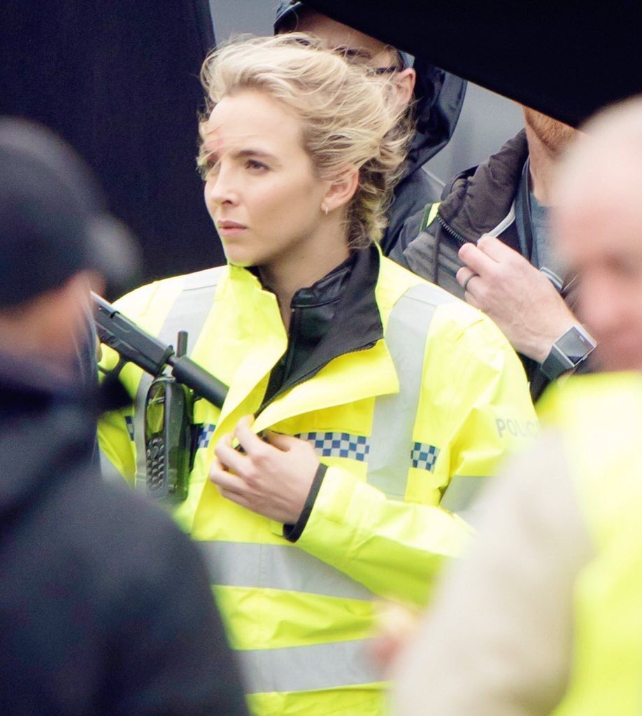More of Jodie Comer filming for #KillingEve season 3 in North London!
