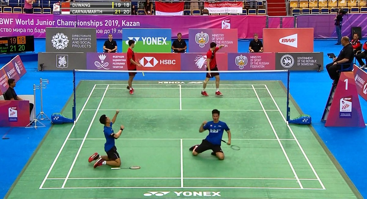 WHAT A CELEBRATION!!!  INDONESIA JUARAAA  #WJC2019<br>http://pic.twitter.com/qDyDgCCmdl