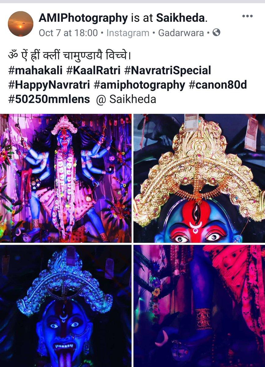 ॐ ऐं ह्रीं क्लीं चामुण्डायै विच्चे। #mahakali #KaalRatri #navratrispecial #happynavratri #amiphotography #amimages #canon80d #50250mmlens  follow my post  @