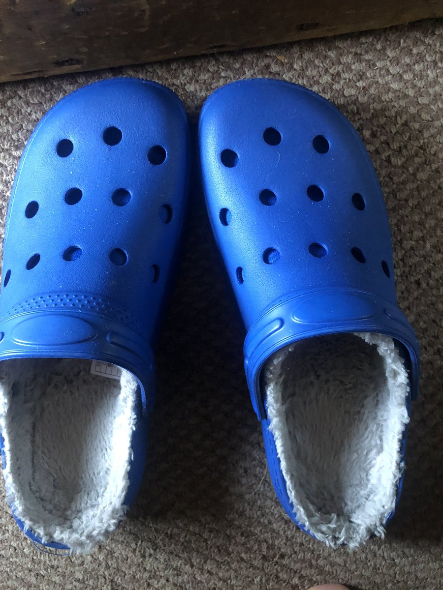 My favourite purchase today fluff lined crocs 🤪