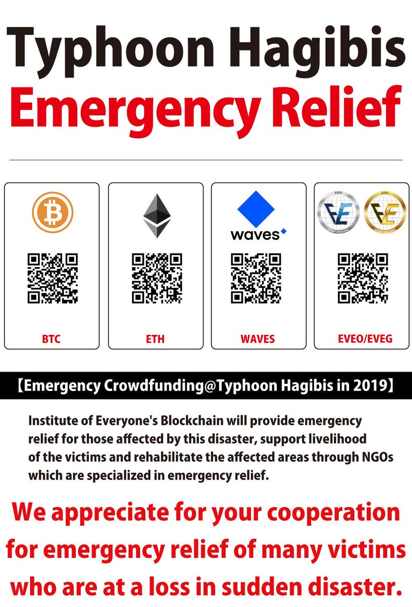 [Emergency crowdfunding @ Typhoon Hagibis] We will use the funds established during the Great Kumamoto Earthquake and overseas support to provide emergency relief to Typhoon Hagibis in cooperation with specialized NGOs. The amount of donation will be disclosed as needed. #Hagibis